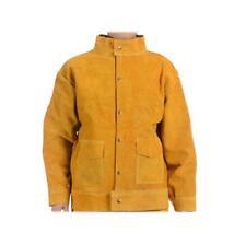 Flame Resistant Heavy Duty Leather Welding Jacket Pants Welders Overalls Did