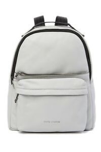 MARC JACOBS M0013562-052 Varsity Pack Large Backpack Leather Light Grey NWT