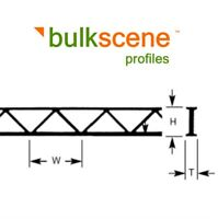 BULKSCENE - OPEN WEB TRUSSES GIRDERS PLASTIC PROFILES FOR MODELLING - BULK PACKS