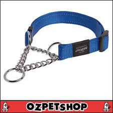 Rogz Utility Medium 5/8-inch Reflective Snake Obedience Half-check Dog Collar B