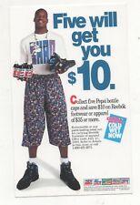Shaq Shaquille O'Neal /Pepsi Door Decal  1993 Unused