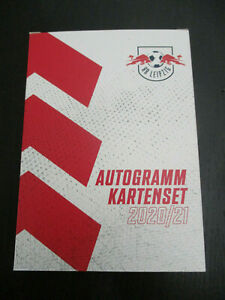 41 x RB Leipzig 2020 - 2021 original signiert Autogrammkarten Satz