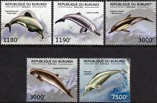 DOLPHINS (Maui/Baiji/Irrawaddy/River Dolphin) Marine Life Stamp Set/2012 Burundi
