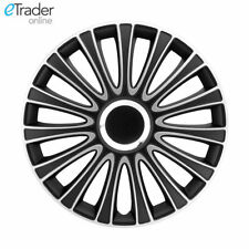 "16"" Vauxhall Vivaro Wheel Trims | Hubcaps | Set of 4. Black and Silver"