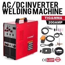 TIG/Stick Square Wave Inverter AC/DC Aluminum 200 Amp Welder IGBT Pulse 110/220V