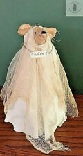 Primitive HALLOWEEN GHOST MOUSE Shelf Sitter Country/Farmhouse Handmade