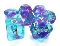 RPG Würfel Set 7-teilig Poly DND Blau Rollenspiel w4-w20 dice4friends Tabletop