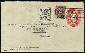 Mar. 1948 usage of 2½d embossed envelope uprated 1d Queen Mother...