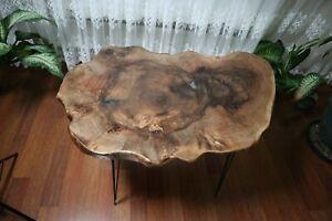 Live Edge Walnut Tree Root Amazing Naturally Form Wood Slice, Coffee Table 02