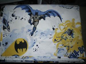 POTTERY BARN KIDS DC COMICS BATMAN Twin Size Sheet Set w 1 Standard Pillowcase
