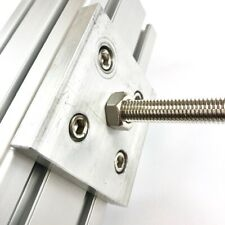 8080 Aluminum Base Plate Connection Plate  / Aluminum Profile Extrusion (2 Pcs)