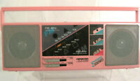 Vintage SounDesign pink portable AM FM radio boombox Sports Stereo camping