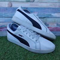 Puma Smash Flat Ladies White Leather Trainers UK6 US8.5 EU39 360780