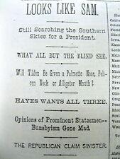 <13 1876 newspapers PRESIDENTIAL ELECTION Dewey Defeats Truman 1876 TILDEN WINS?