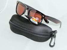 SUNGLASSES DE SOL WAYFARER BROWN POLARIZED,- WITH COVER FROM SPAIN