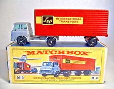 "Matchbox Major Pack M2B Bedford Truck & Trailer ""LEP"" einfarbig roter Anhänger"