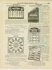 Catalog Page Ad  Fishing Lures Heddon Dowagiac Pflueger Baits Fly Calif c.1925