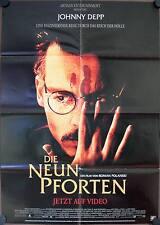 Die Neun Pforten Filmposter Videoplakat A1 The Ninth Gate Johnny Depp Langella