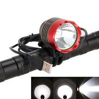 5000Lm CREE XML-T6 LED USB Cycling Head Front Bicycle Light Bike Lamp Headlight