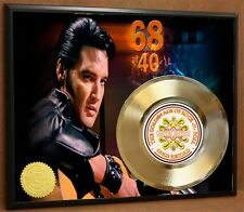 ELVIS PRESLEY LIMITED EDITION POSTER ART GOLD RECORD MUSIC MEMORABILIA DISPLAY