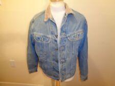 Mens Medium VTG LEE STORM RIDER Blue Jean Trucker Jacket Blanket Lining Western