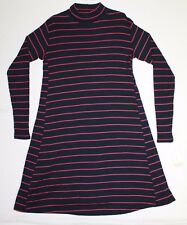Liz Lang Maternity Striped Casual Knit Sweater Dress Woman's Size M Pink & Blue