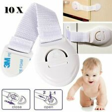 10Pcs Enfant Bébé Serrure de Sécurité Verrou Sécurite Porte Armoire Tiroir Blanc