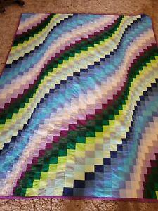 Jewel tone Bargello quilt