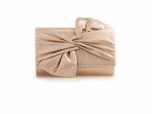 Women's Wedding Clutch Bag Large Bow Soft Handbags Evening Purse W2562