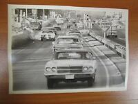 Vintage Glossy Press Photo Natick MA Oak Street Route 9 Intersection #4 1/31/78
