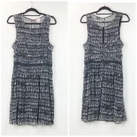 Anthropologie Postmark Large Womens Black White Lace Swiss Dots Dress