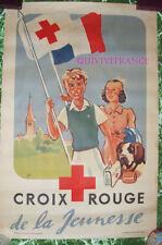 AFFICHE CROIX ROUGE  WW2 par GUS
