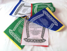 A Good Wish Cotton Prayer Flags - Printed in English and Tibetan Word (KLPF03)