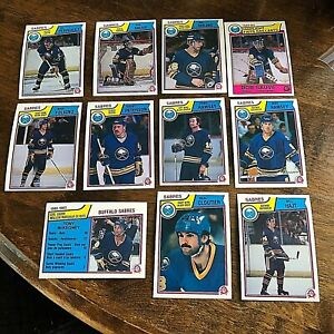 1983-84  O-Pee-Chee  BUFFALO SABRES 11 card team set/lot