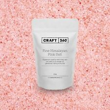 FINE - HIMALAYAN PURE PINK ROCK SALT EDIBLE - Crystal Soap Bath Scrub FOOD GRADE