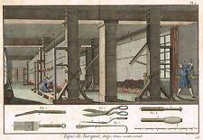 "Diderot's ""Enclyclopedie"" - ""TURKISH CARPET - Pl. # 1"" -Hand-Col. Eng. -1751"