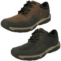 Hombre Clarks Informal Impermeable Zapatos con Cordones Walbeck Edge