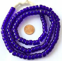 Ghana Fine Cobalt Blue Bohemian glass Crow African trade beads