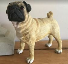 Pug Ornament, Realistic Lifelike Dog Figurine, Gift Boxed