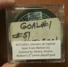 Game used puck ny islanders final goal
