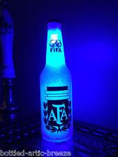 FIFA Argentina Soccer Football 12 oz Beer Bottle Light LED Neon Bar BTC