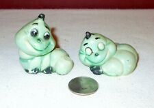 2 Vintage Hong Kong Hard Plastic Worm Figurines +