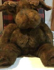 FAO Schwarz Chocolate Brown Moose Stuffed Animal Toy Large  20""