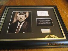 JOHN F. KENNEDY JFK Autograph and Hair COA Museum Framed