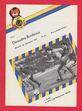 Orig.PRG   UEFA Cup  1983/84   1.FC LOK LEIPZIG - GIRONDINS BORDEAUX  !!  SELTEN