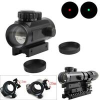 Tactical 1x40 Red/Green Dot Sight Holographic Rifle Scope W/Rail Mount 11mm 20mm