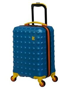 """It Luggage Kids Boosting 18"""" Hardside 4-Wheel Spinner Cabin Luggage French Blue"""