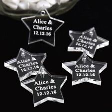 Personalized Engraved Love Star Wedding Table Centerpieces Tag 50 Pcs