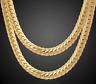 18k Goldkette Königskette vergoldet 60cm Panzerkette Damen Herren Halskette G22