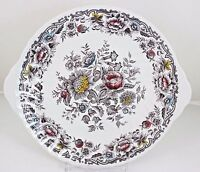 SERVE PLATTER & DINNER PLATE VINTAGE RIDGWAY CHINA ENGLAND CLIFTON MULTICOLOR